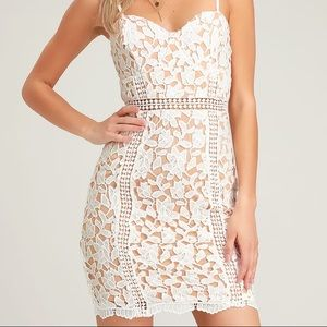 Lulus Giovanni White Lace Dress - NWT - Size S
